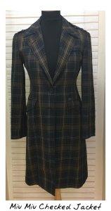 Miu Miu Checked Jacket Blog