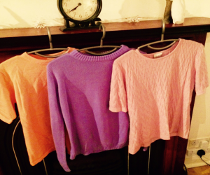 bright knitted jumpers